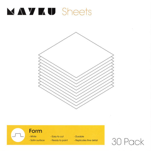 Mayku Form Sheets - 9.5x.5x.8in 30Pk Box - Project 3D Printers