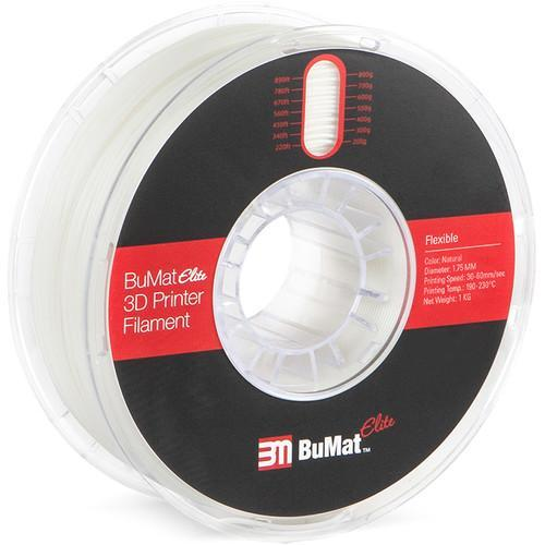 BuMat Elite 1.75mm Flexible Filament - CASE of 12 Spools (1.75mm/1kg) - Project 3D Printers