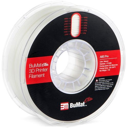 BuMat Elite Professional 1.75mm ABS Filament (1kg) - CASE of 12 Spools - Project 3D Printers