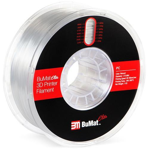 BuMat Elite 1.75mm Polycarbonate Filament (1kg) - Natural -  CASE of 12 Spools - Project 3D Printers