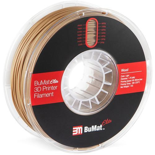 BuMat Elite 1.75mm Wood Filament (1kg) Light and Dark Colors - CASE of 12 Spools - Project 3D Printers