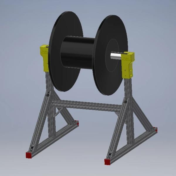 Push Plastic - Bulk Spool Payoff (Large Spool Holder) - Project 3D Printers