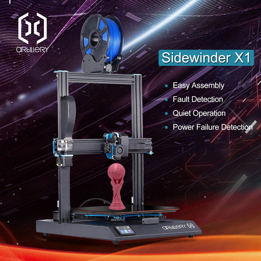 Artillery (Envovo) Sidewinder-X1 3D Printer V4 (Latest Version) - Project 3D Printers