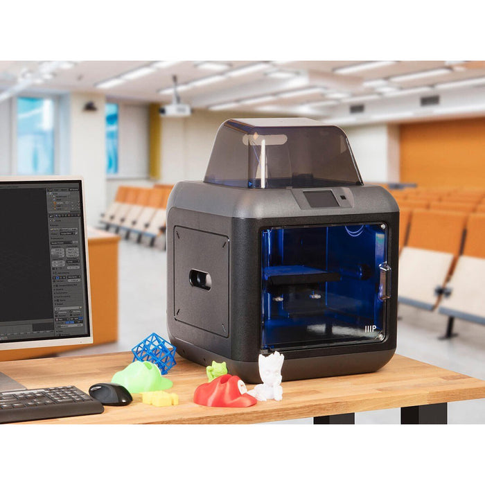 Monoprice - MP Fully Enclosed 150 3D Printer, Ultra Quiet, Assisted Leveling, Easy Wi-Fi, Touch Screen (30525) - Project 3D Printers