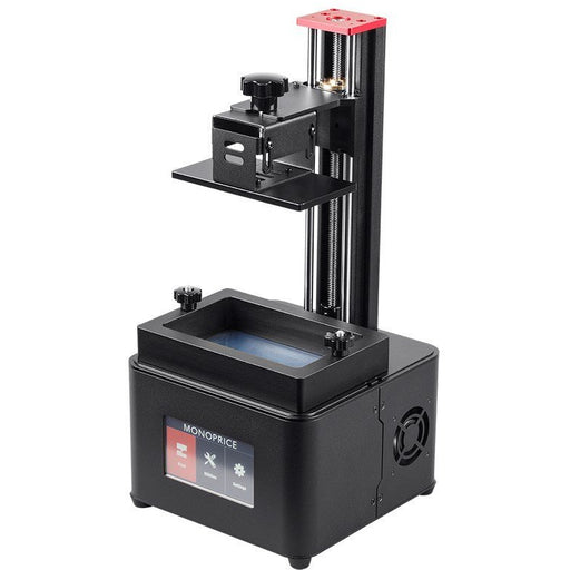 Monoprice MP Mini Deluxe SLA LCD High Resolution Resin 3D Printer + 250ml Red Photopolymer Resin (30994) - Project 3D Printers