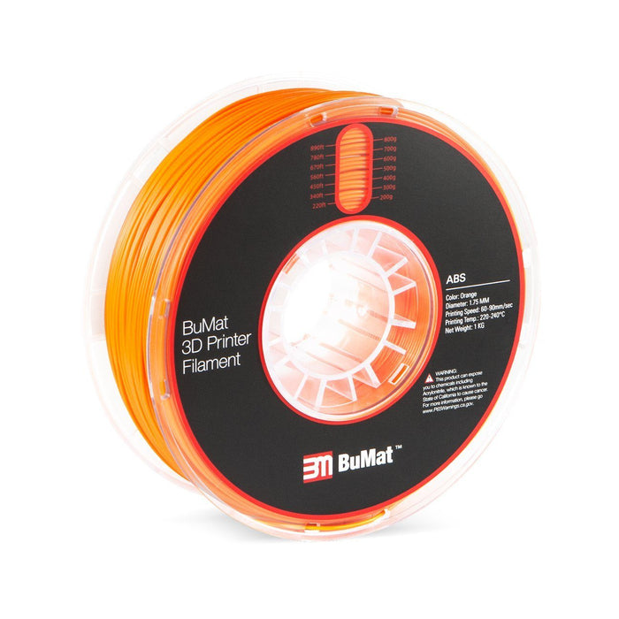 BuMat ABS Filament (1.75mm/1kg) - Case of 12 Spools - Project 3D Printers
