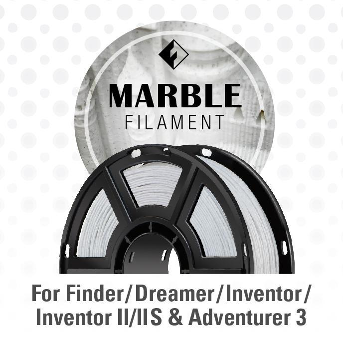 FlashForge - Marble Color Filament (for Inventor, Adventurer 3, and Dreamer Series) - Project 3D Printers