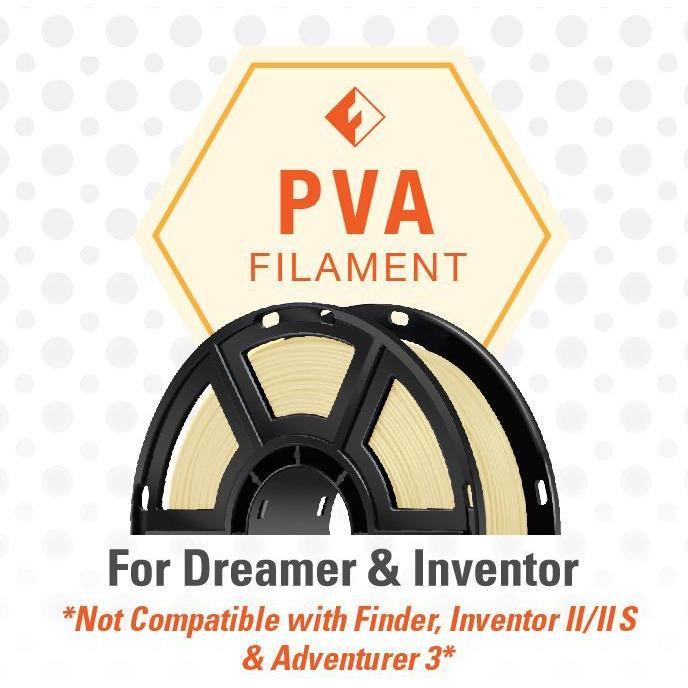 FlashForge PVA Filament (For Dreamer and Inventor) - Natural Color; 0.5 kg Spools - Project 3D Printers