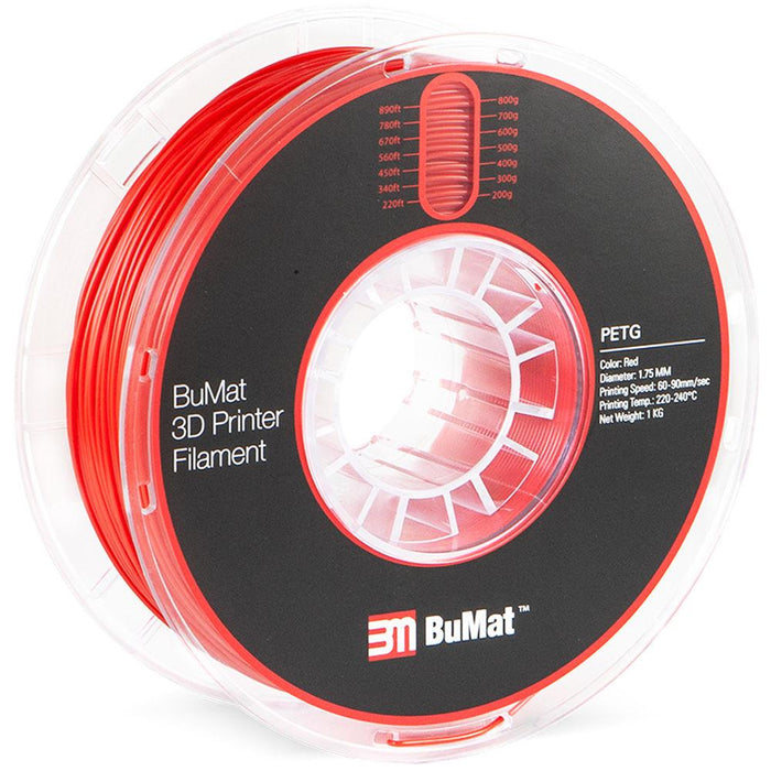 BuMat PETG Filament (1.75mm/1kg) - Case of 12 Spools - Project 3D Printers