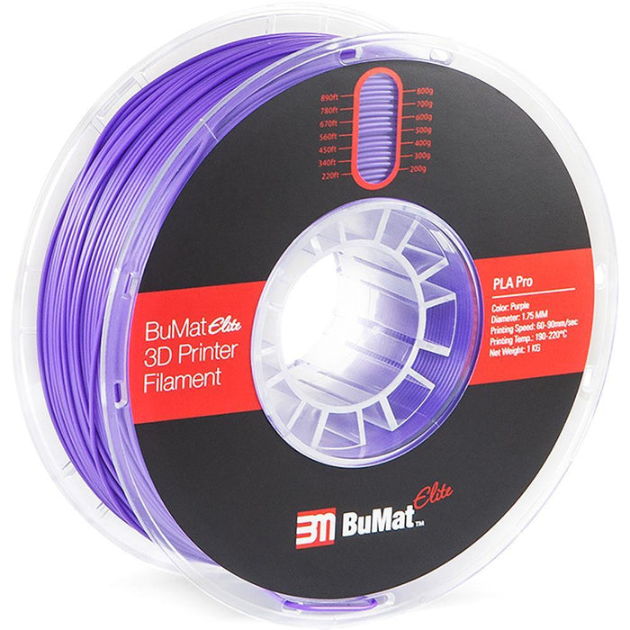 BuMat Elite Professional 1.75mm PLA Filament - Case of 12 Spools - Project 3D Printers