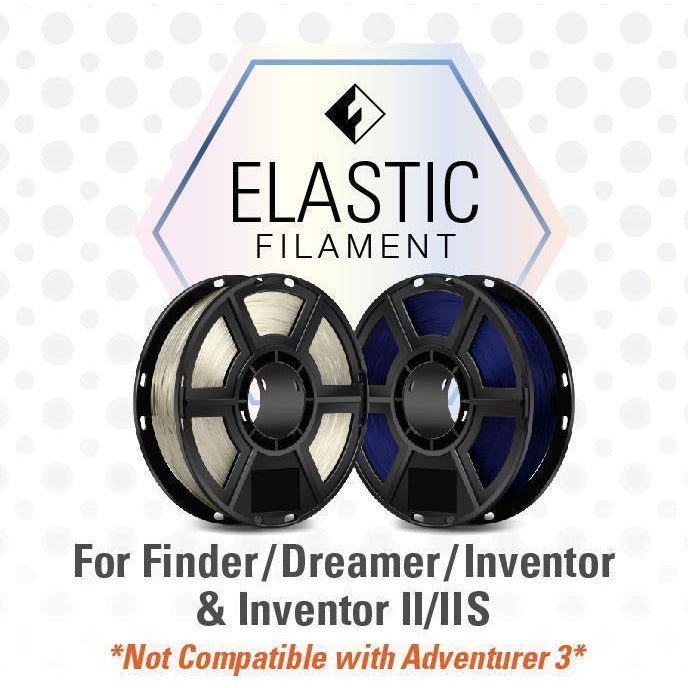 FlashForge Elastic Filament (For Dreamer, Inventor Series, and Finder) 1.75mm - Project 3D Printers
