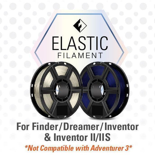 FlashForge Elastic Filament (For Dreamer and Inventor Series) 0.5 kg Spools - Case of 20 Spools - Project 3D Printers