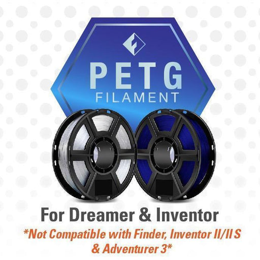FlashForge PETG Filament (For Dreamer and Inventor) - Case of 20 Spools - Project 3D Printers