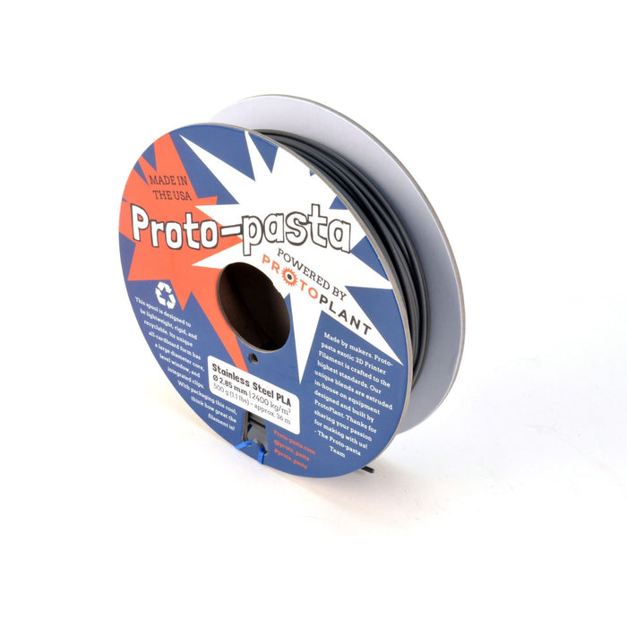 Stainless Steel PLA 3mm Filament 500g Reel (Proto-Pasta) - Project 3D Printers