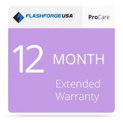 FlashForge - ProCare 12-Month Extended Warranty - Project 3D Printers