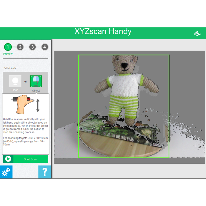 XYZPrinting 3D Scanner Pro - Project 3D Printers