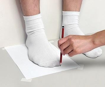 Measure Your Feet-Step1