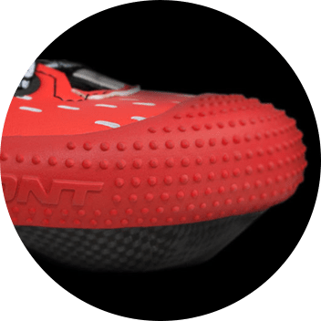 Bont toe protector in red on boot