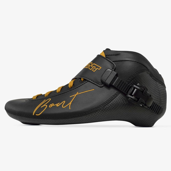 black-gold BNT Inline Speed Skate Boots