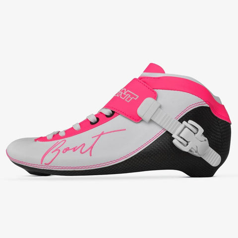 white-cheeky-pink BNT Inline Speed Skate Boots