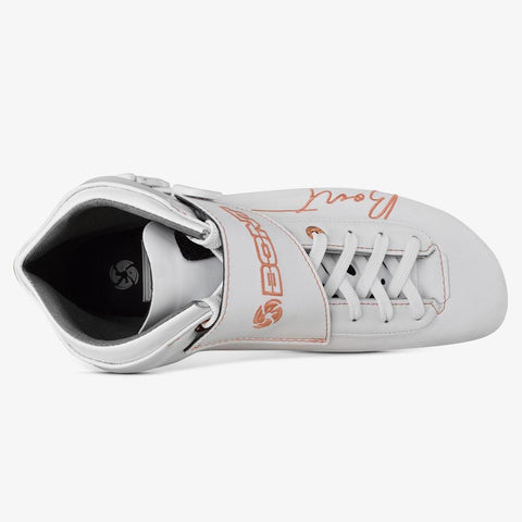 white-rose-gold BNT Inline Speed Skate Boots