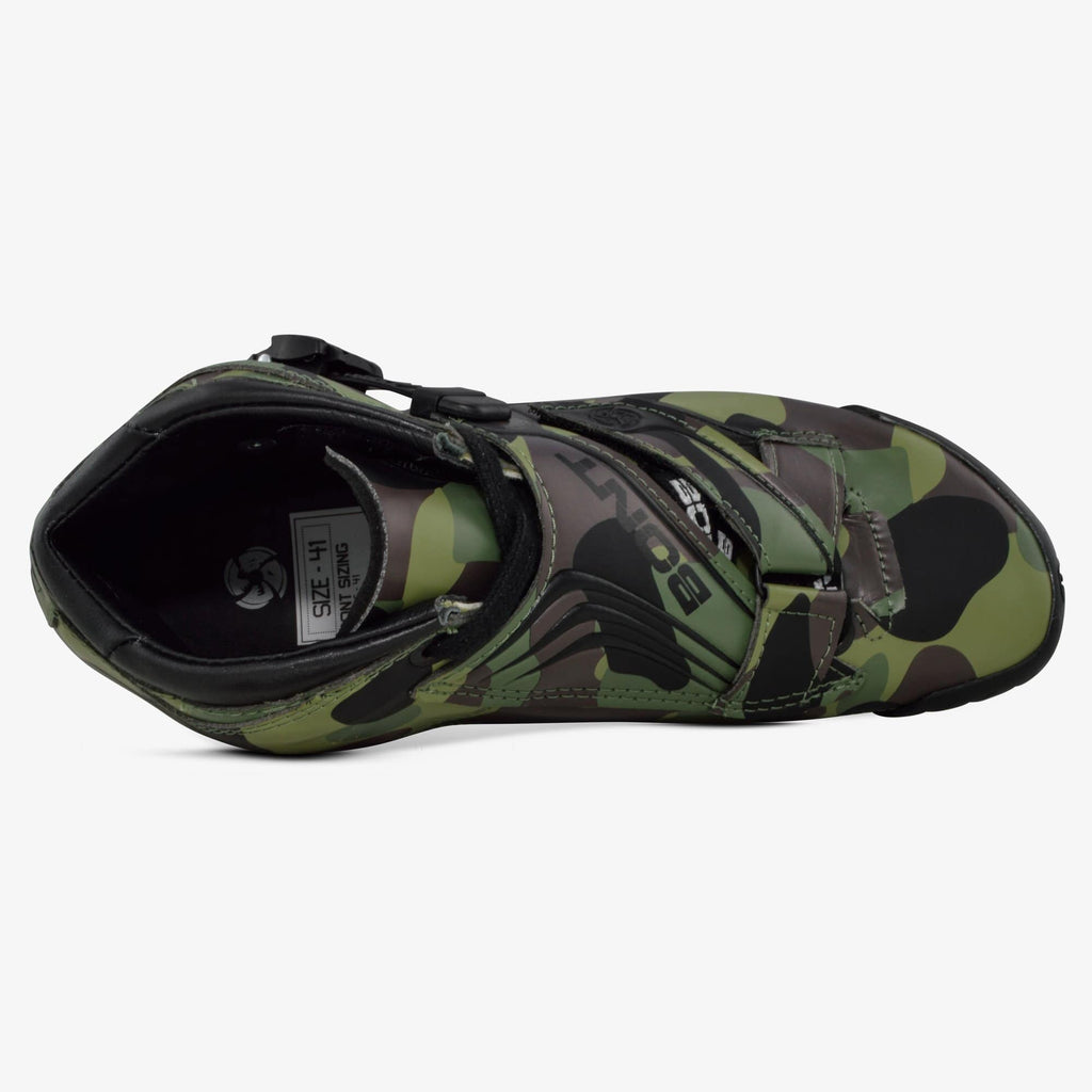 green-camo bont inline speed skates