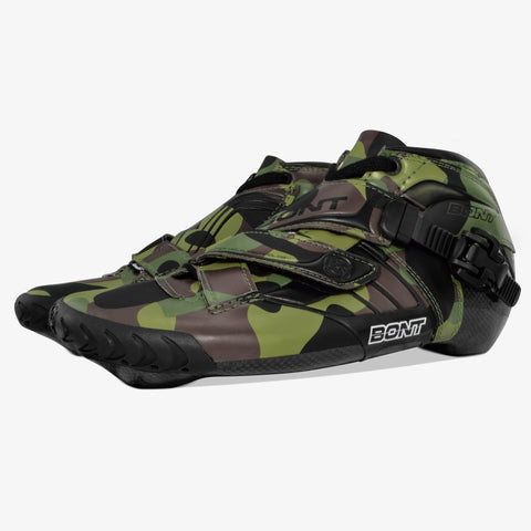 green-camo speed skates for girls