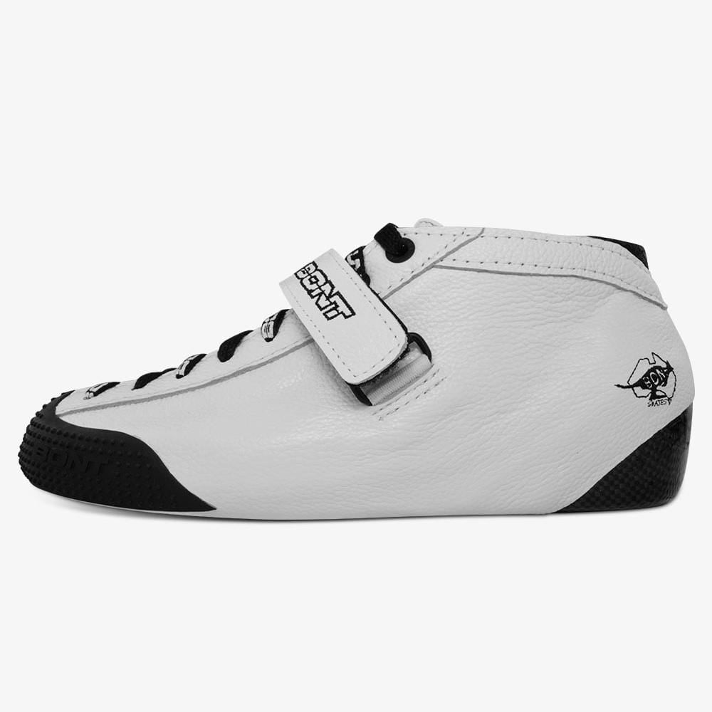 leather-white roller derby skate