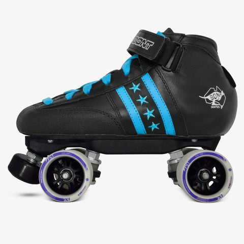 Boys blue black roller skate