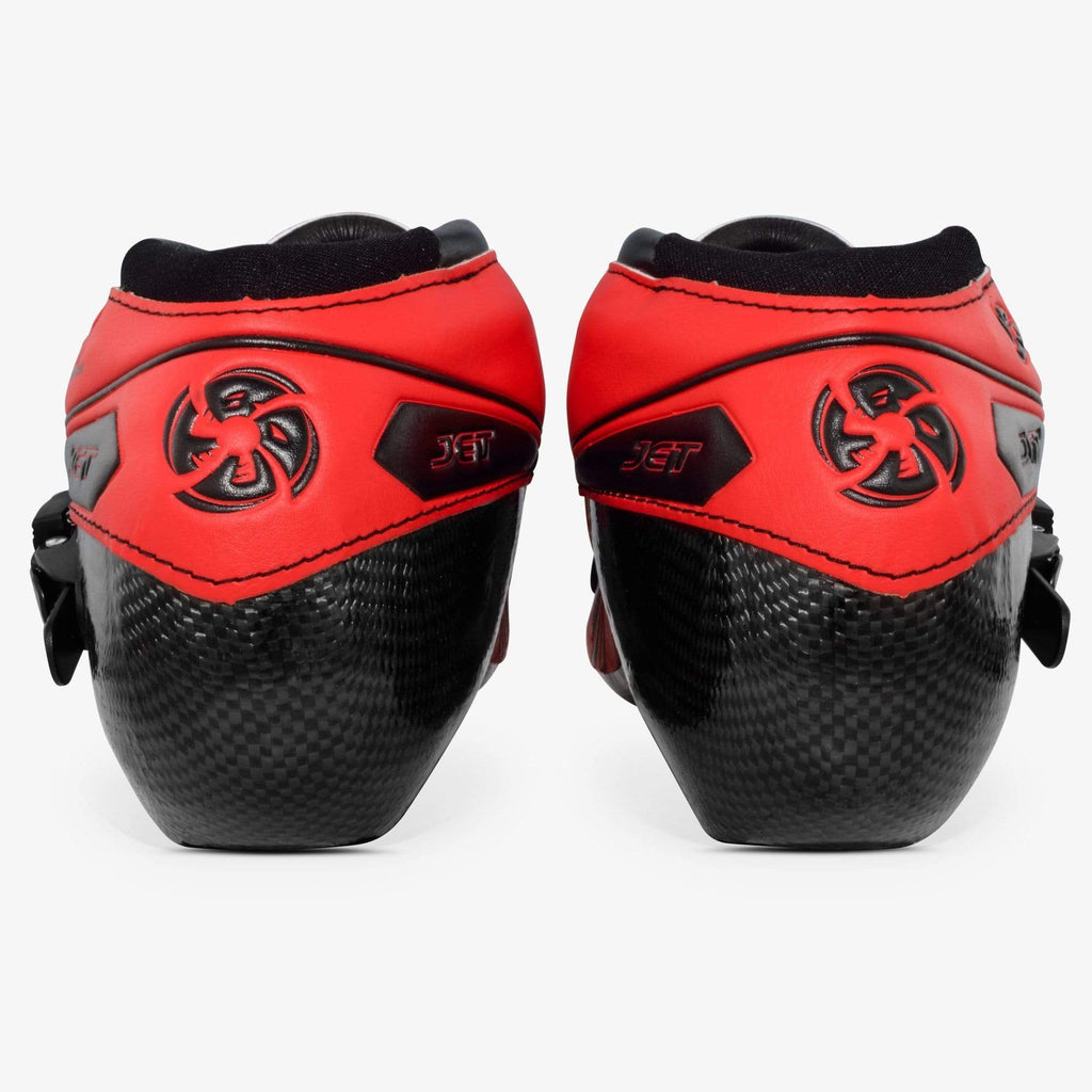 fluoro-red-black Jet Inline Speed Skate