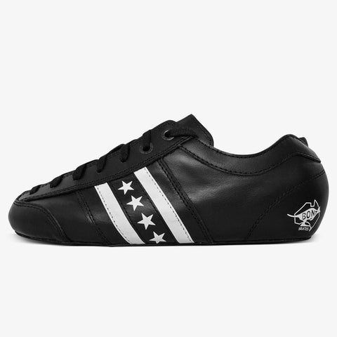 black-leather Speed Roller Skate