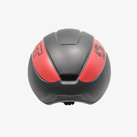 matte-black-red short track speed skating helmet