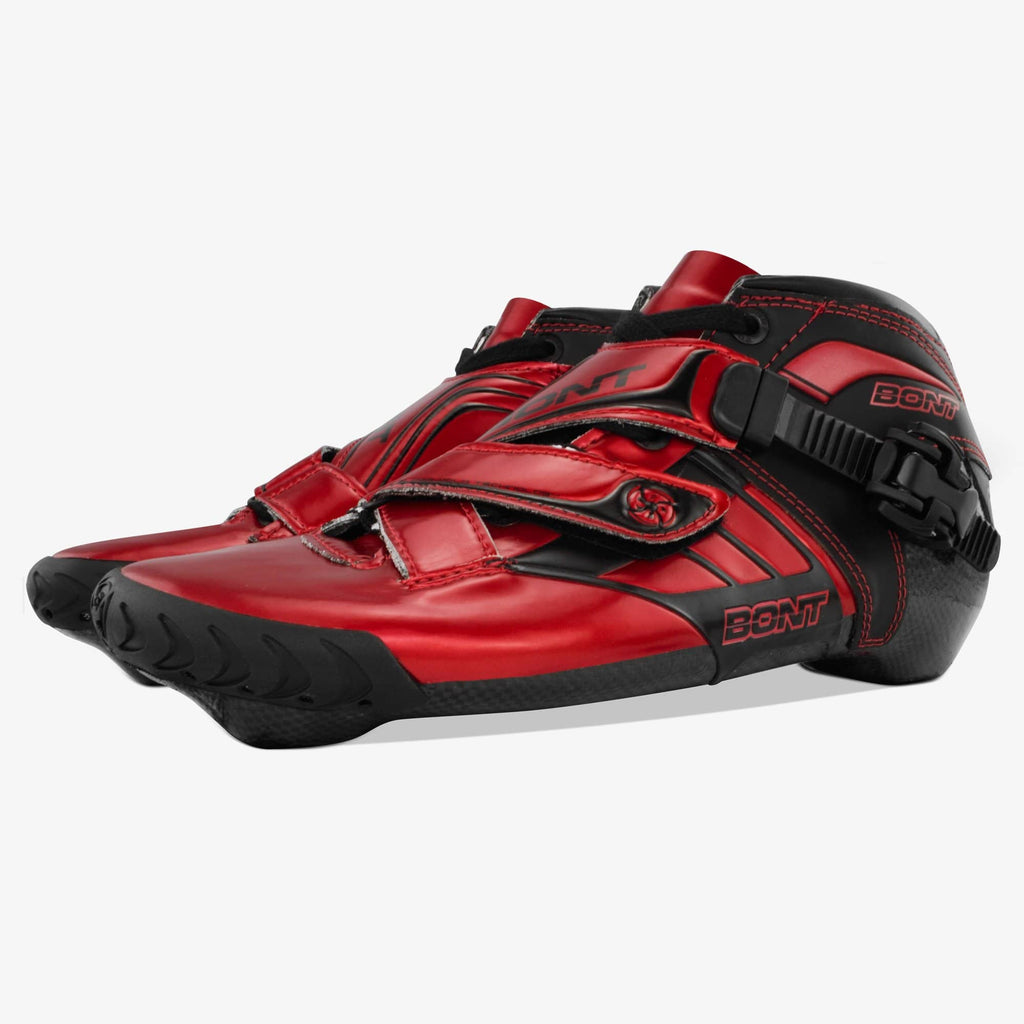 red-black bont inline speed skates