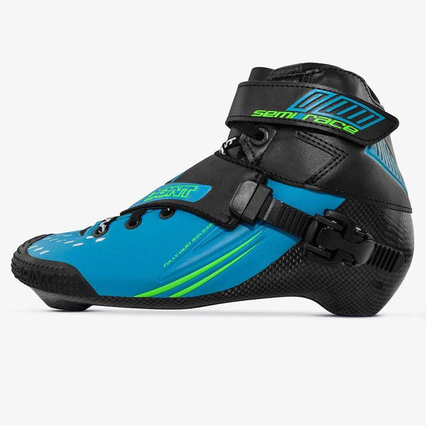 blue-black Bont racing skate