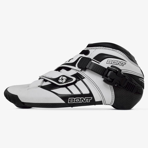 white-black speed skates for boys