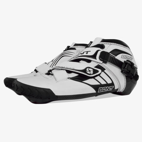 white-black 125mm speed skates