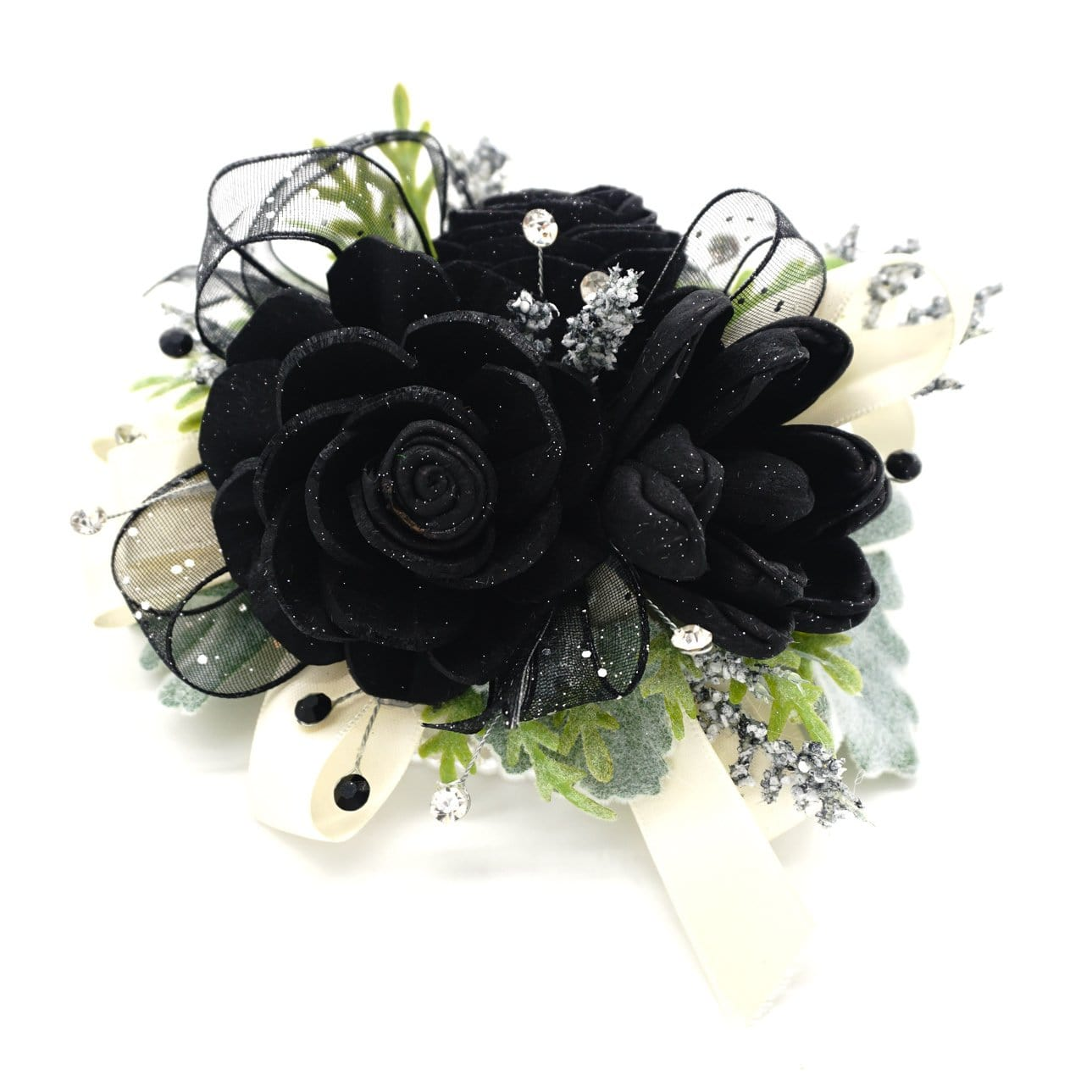 Formal Black Corsage