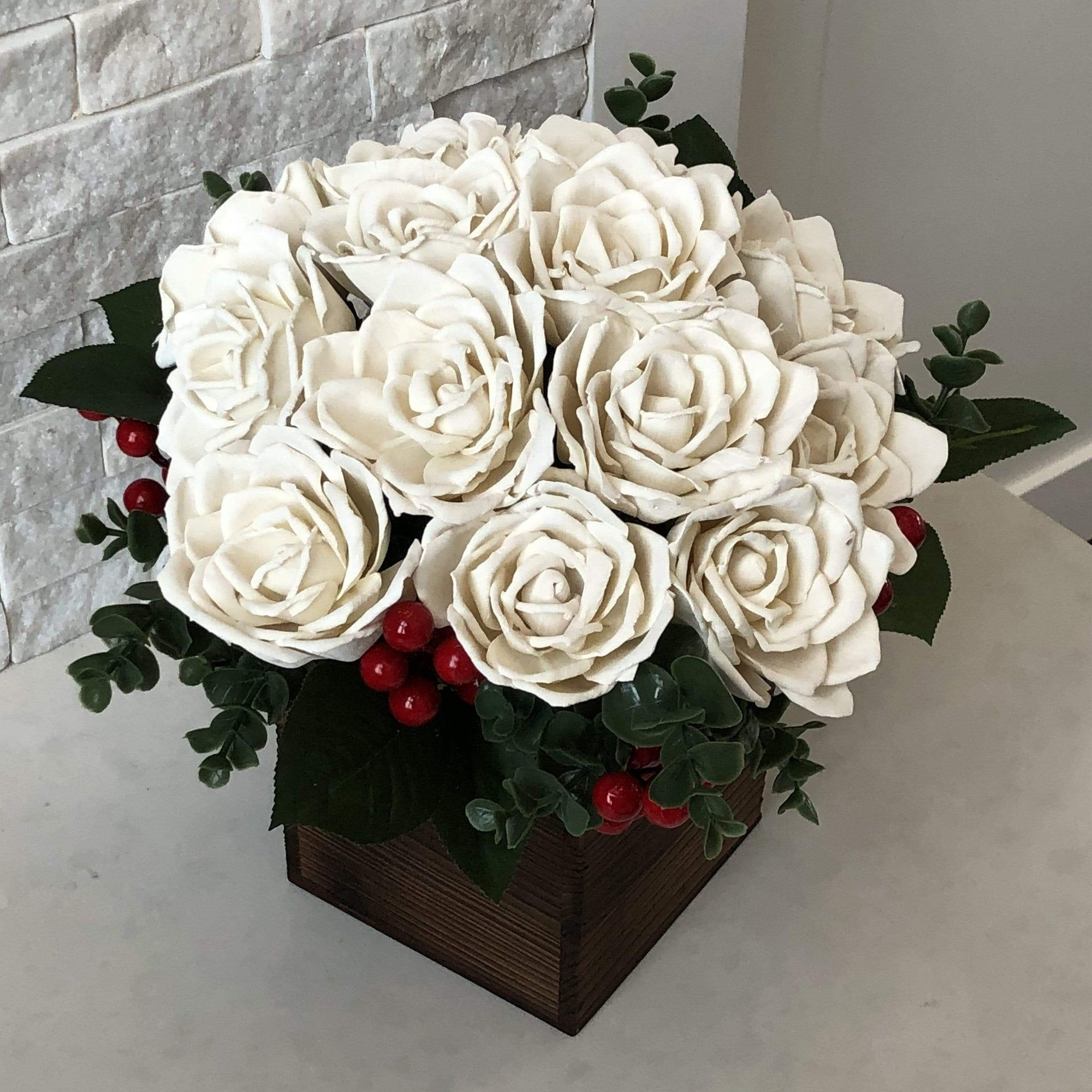 Lovely White Roses