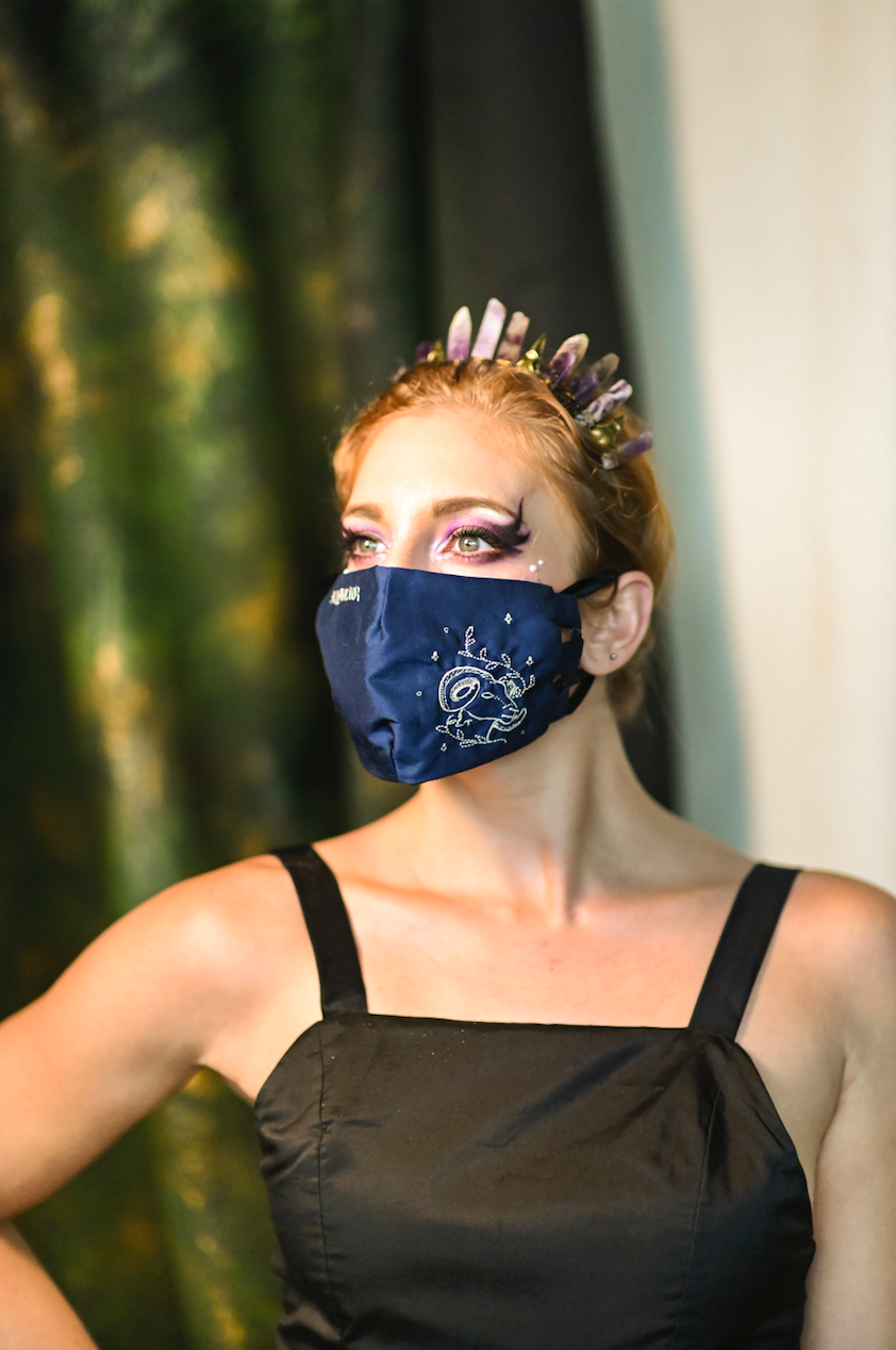 Aries Embroidered Mask