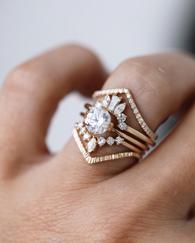 Consider The Wldflwrs diamond ring in Beaumade