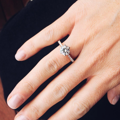 Hexagon Engagement Ring Selin Kent
