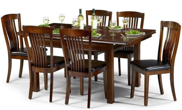 Canterbury Walnut Wooden Extending Dining Set