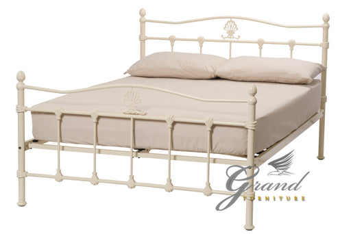 Boston Cream Metal Bed Frame