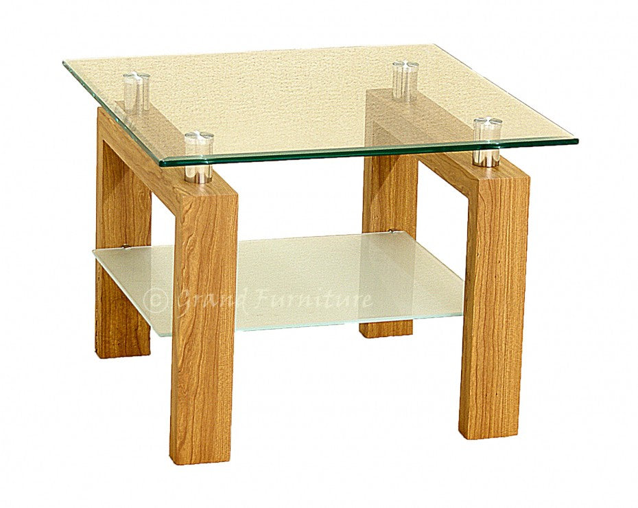 Adina Clear Glass Side/Lamp Table