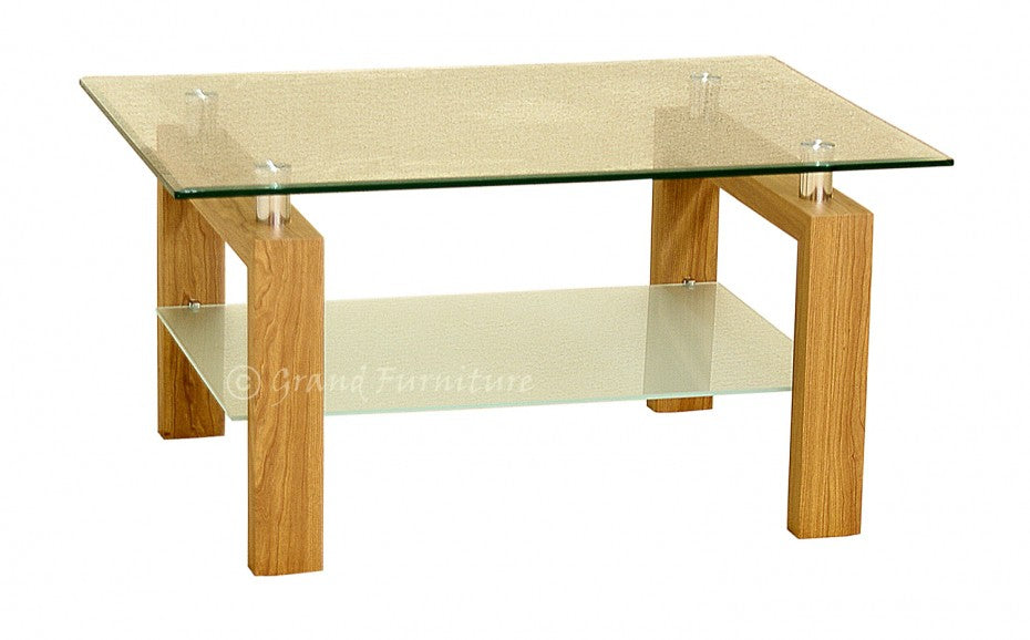 Adina Contemporary Glass Coffee Table