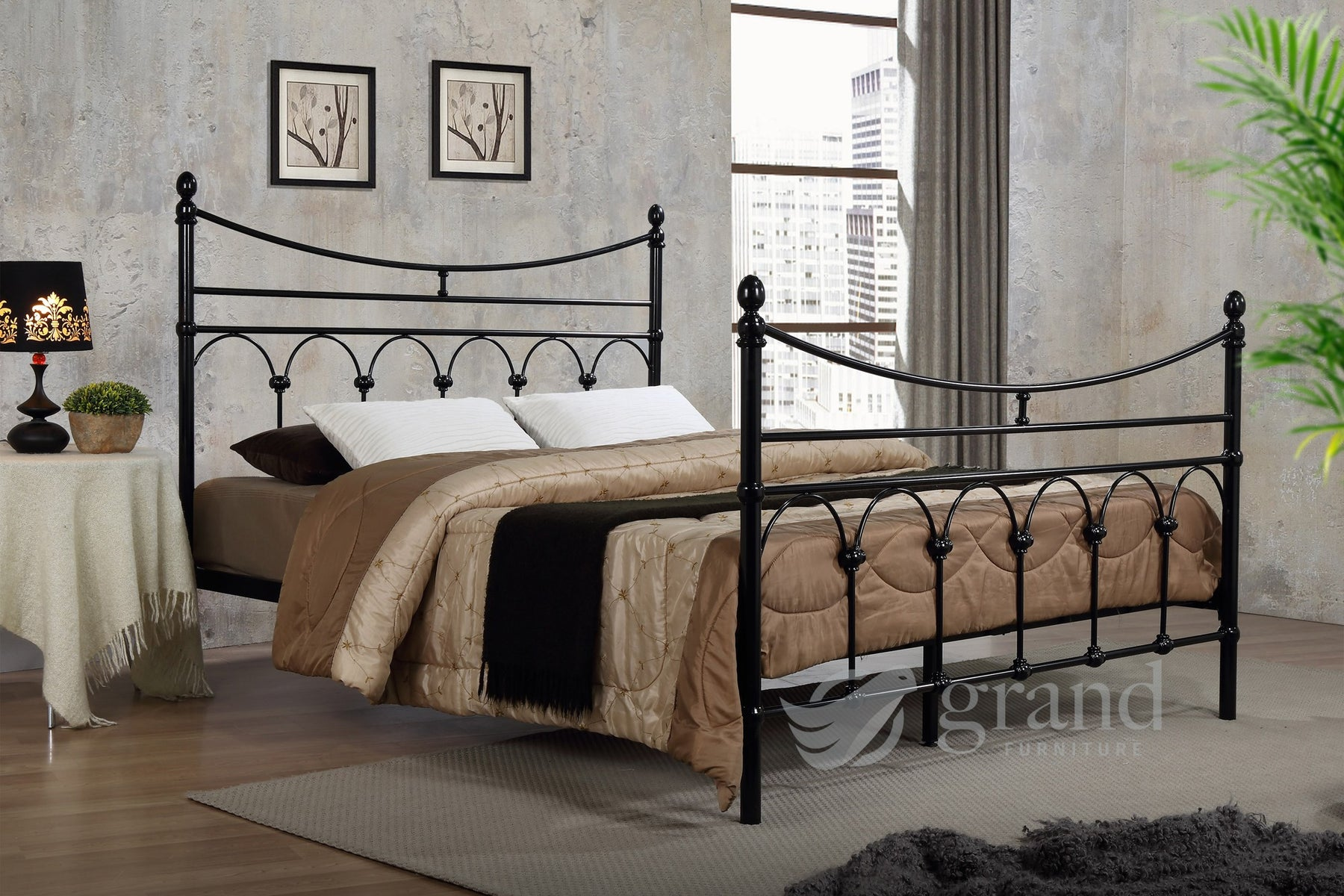 Atlanta Black Traditional Bed Frame