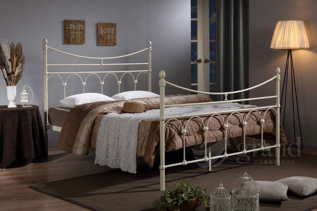 Atlanta Cream Traditional Bed Frame