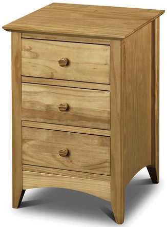 Kendal Pine 3 Drawer Bedside Table