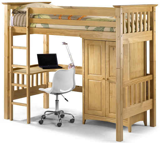 Bedsitter  Children Wooden High Sleeper Bunk Bed Frame