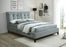 Venice Pilltop Fabric Bed Upholstered in Light Grey